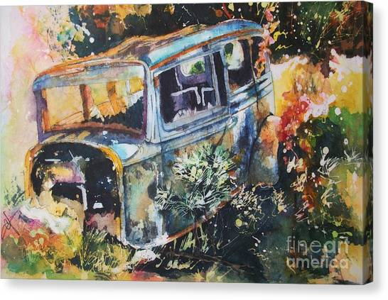 The Courting Car Canvas Print