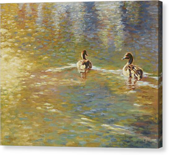 The Courtship Canvas Print by Gini Heywood