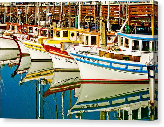 Crabbing Canvas Print - The Crab Fleet by Bill Gallagher