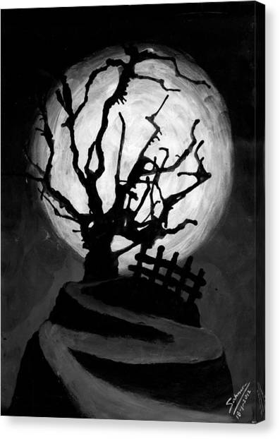 The Crooked Tree Canvas Print