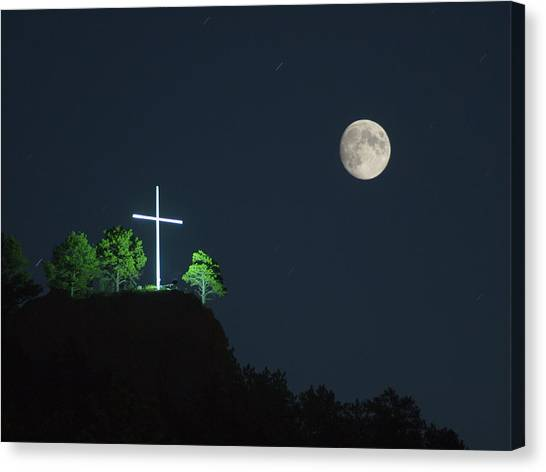 The Cross And The Moon Canvas Print