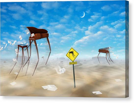 Imaginative Canvas Print - The Crossing by Mike McGlothlen