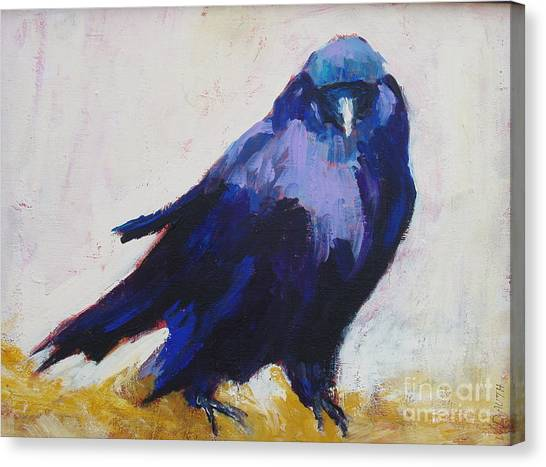 The Crow Canvas Print by Virginia Dauth