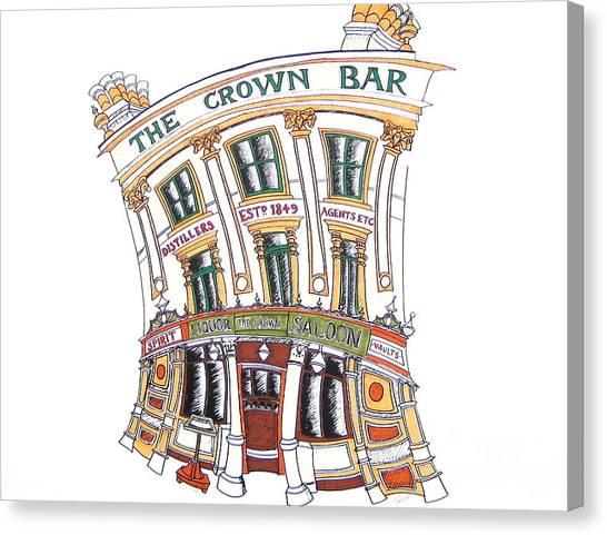 The Crown Bar Belfast Canvas Print by Tanya Mai Johnston