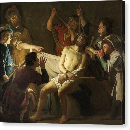 Rijksmuseum Canvas Print - The Crowning With Thorns Of Jesus by Gerard van Honthorst
