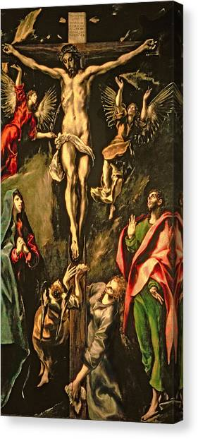 The Prado Canvas Print - The Crucifixion by El Greco Domenico Theotocopuli