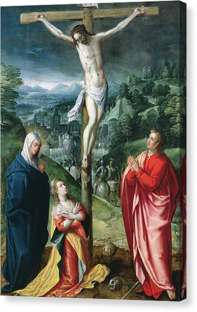 Messiah Canvas Print - The Crucifixion by Flemish School