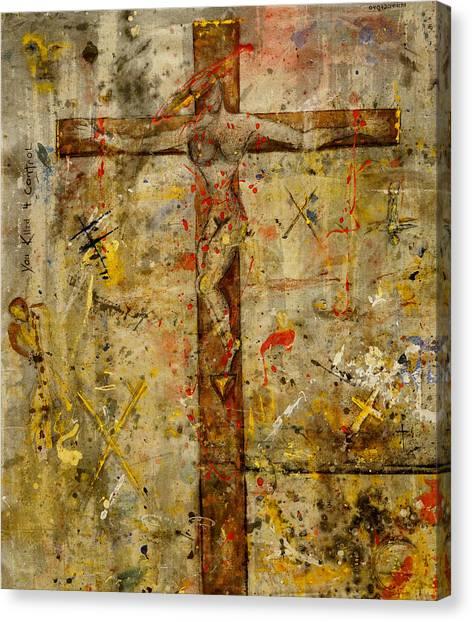 the Crucifying of the Sacred Feminine  Canvas Print
