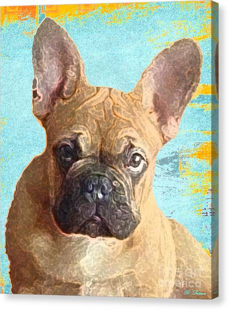 French Bull Dogs Canvas Print - The Cruz-man by Dianne Ferrer