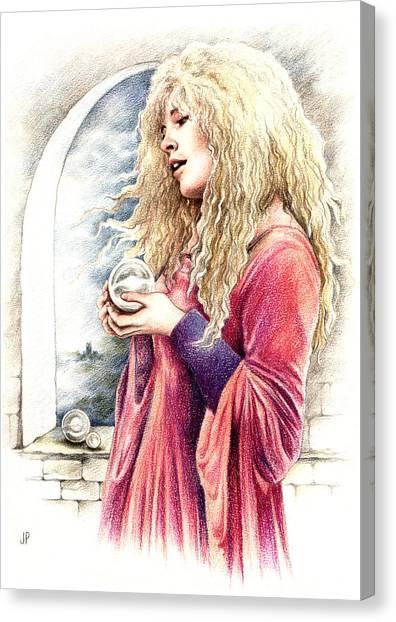 Stevie Nicks Canvas Print - The Crystal Ball by Johanna Pieterman
