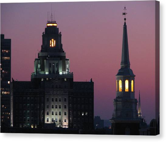 The Customs Building And Christ Church Canvas Print