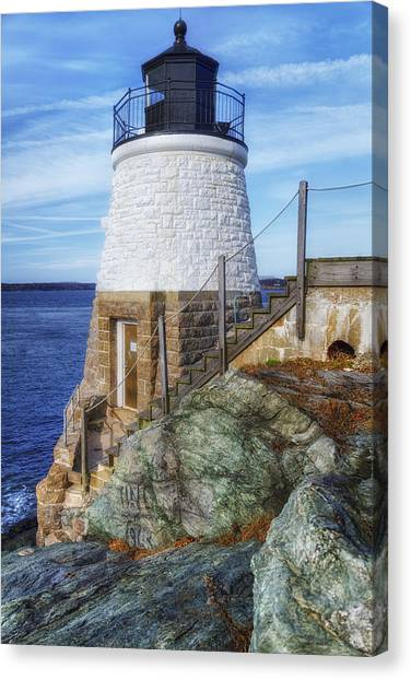 Peace Tower Canvas Print - Castle Hill The Cutest Lighthouse In The World by Joan Carroll