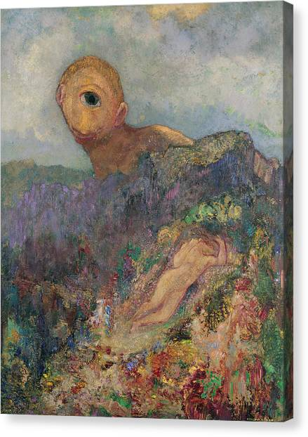 Sleeping Giant Canvas Print - The Cyclops, C.1914 Oil On Canvas by Odilon Redon