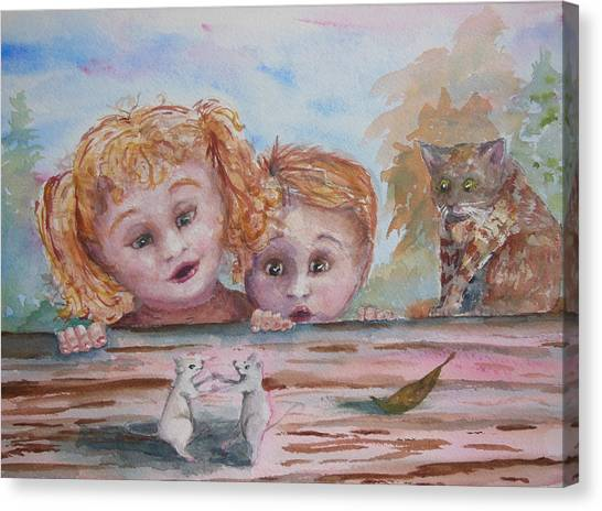 Big Sister Canvas Print - The Dance by Barbara McGeachen