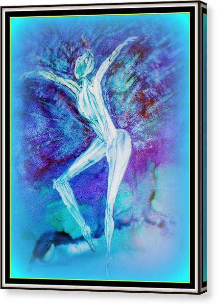 The Dance In Blue Canvas Print