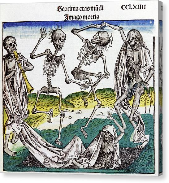 Resurrected Canvas Print - The Dance Of Death by Cci Archives