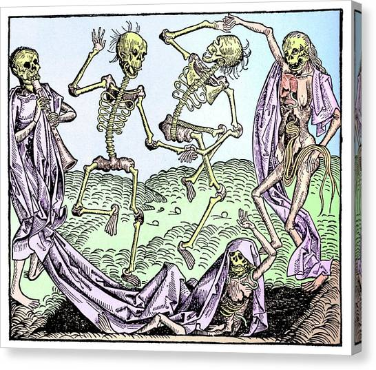 Resurrected Canvas Print - The Dance Of Death by Science Photo Library