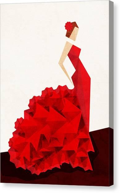 Dresses Canvas Print - The Dancer Flamenco by VessDSign