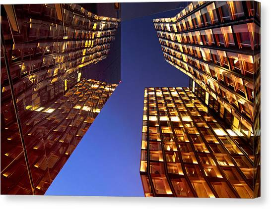 Architectur Canvas Print - The Dancing Towers by Marc Huebner