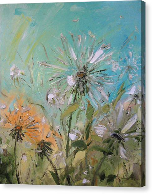 The Dandelions Canvas Print by Solomoon Art Studio