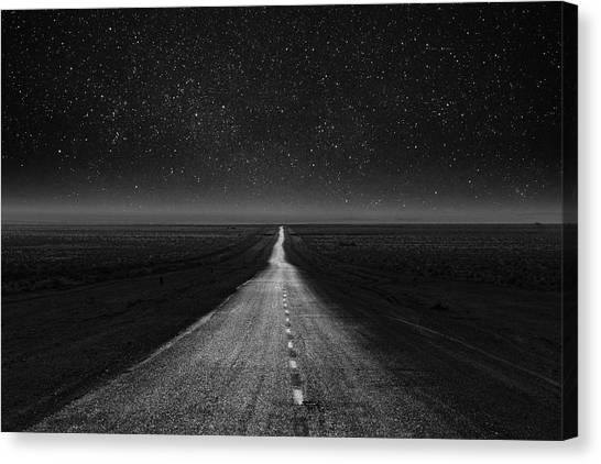 Iranian Canvas Print - The Dark Eternal Night by Asef Azimaie