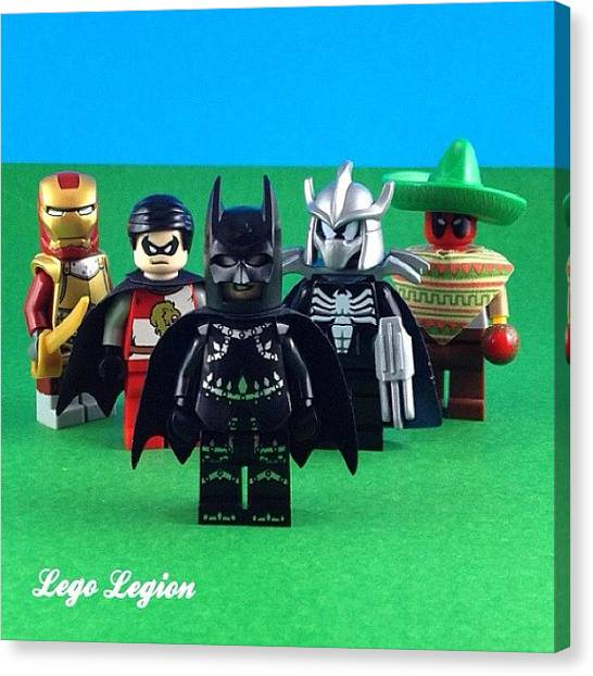 The Legion Canvas Print - The Dark Knight Forces Heroes Of The by Lego Legion
