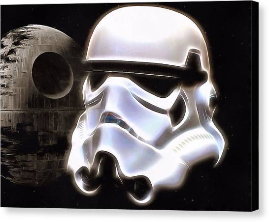 Stormtrooper Canvas Print - The Dark Side by Dan Sproul