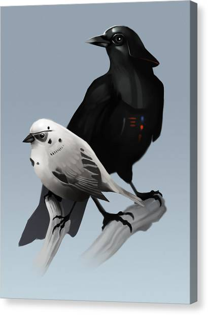 Stormtrooper Canvas Print - The Dark Side Of The Flock by Michael Myers