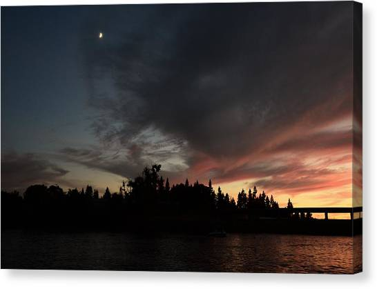 The Dark Side Of The Sunset Canvas Print
