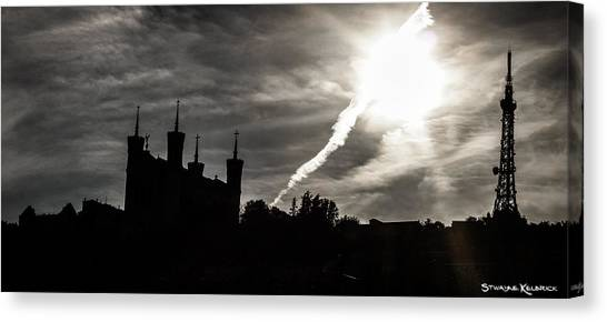 Canvas Print featuring the photograph The Dark Towers by Stwayne Keubrick