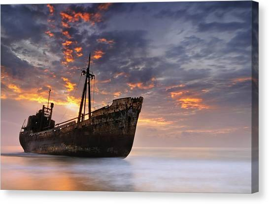 Decay Canvas Print - The Dark Traveler II by Mary Kay