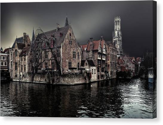 Historical Canvas Print - The Darkness Of Winter Cold by Piet Flour