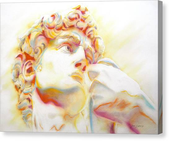 The David By Michelangelo. Tribute Canvas Print
