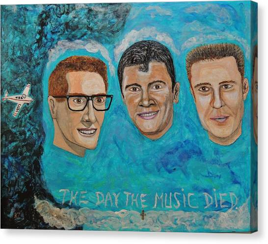 The Day The Music Died. Canvas Print