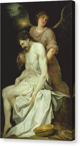 Messiah Canvas Print - The Dead Christ Supported By An Angel by Alonso Cano