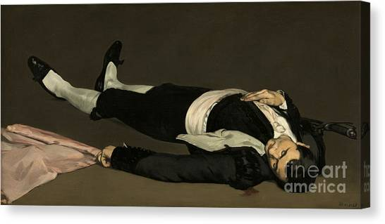Unconscious Canvas Print - The Dead Toreador by Edouard Manet