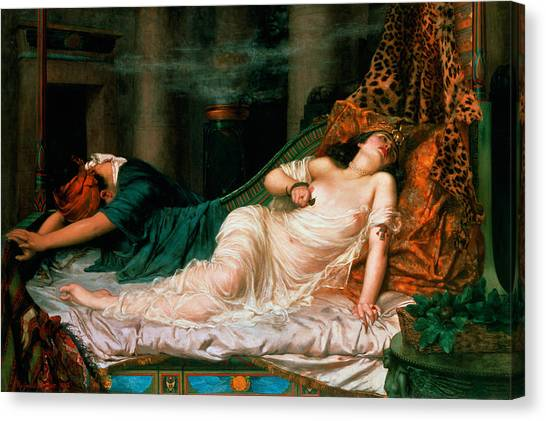 Poisonous Snakes Canvas Print - The Death Of Cleopatra by Reginald Arthur