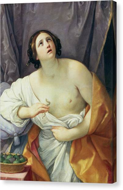 Poisonous Snakes Canvas Print - The Death Of Cleopatra by Guido Reni