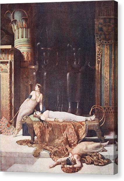 Baroque Canvas Print - The Death Of Cleopatra, Illustration by John Collier