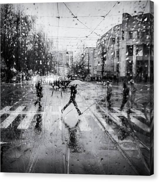 The Decisive Leap Canvas Print by Costas Economou