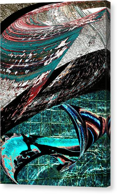Frank Stella Canvas Print - The Deep End by Linda Dunn