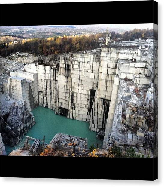 Geology Canvas Print - The Deepest Granite Quarry In The World by Burlington Bandit