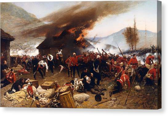 Canvas Print - The Defence Of Rorke's Drift 1879 by Mountain Dreams