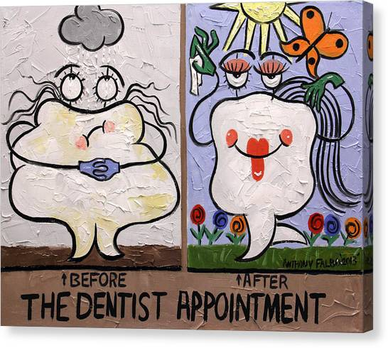 Dentists Canvas Print - The Dentist Appointment Dental Art By Anthony Falbo by Anthony Falbo
