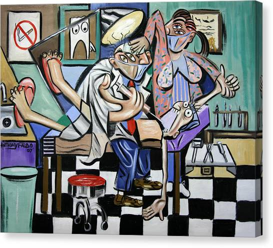 Dentists Canvas Print - The Dentist Is In by Anthony Falbo