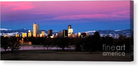 The Denver Skyline Canvas Print