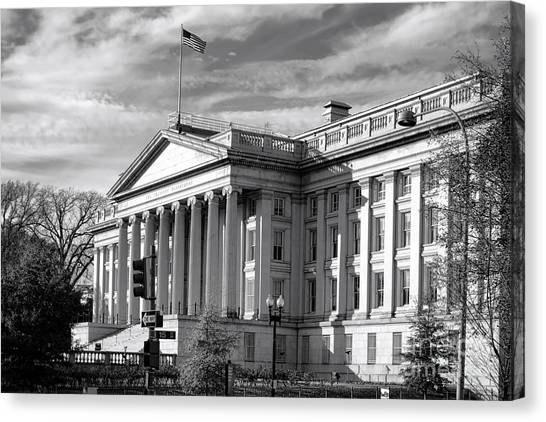 D.c. United Canvas Print - The Department Of Treasury by Olivier Le Queinec