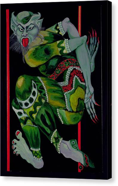 Satan Canvas Print - The Devil, After Bakst Part I, 1992 Acrylic On Canvas See Also 279212 by Laila Shawa