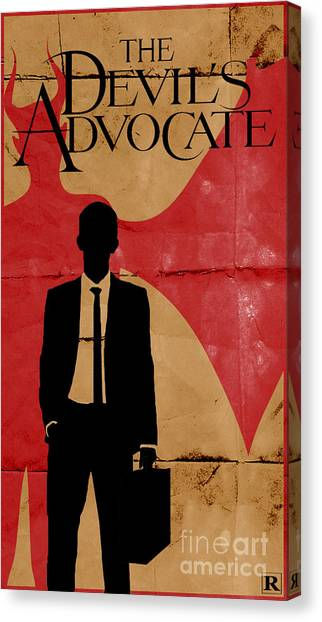 Keanu Reeves Canvas Print - The Devil's Advocate 1 by Petros Graphic Design
