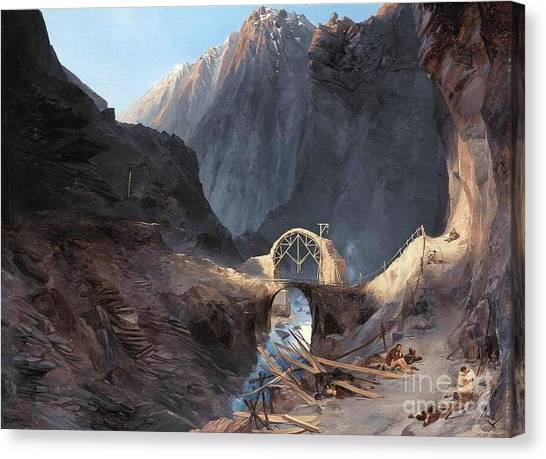 The Devil's Bridge Canvas Print by Roberto Prusso